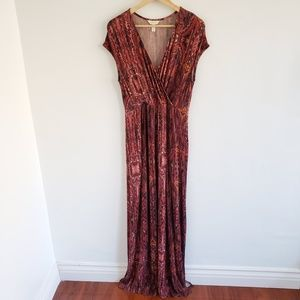 Soma Wrap V-Neck Maxi Dress Medium